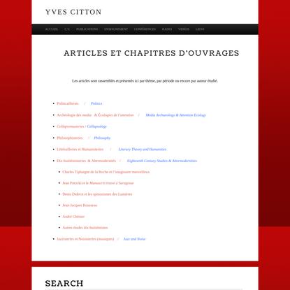 Articles et chapitres d'ouvrages -