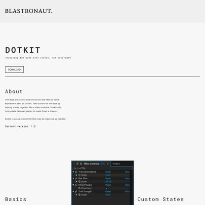 Dotkit — Blastronaut