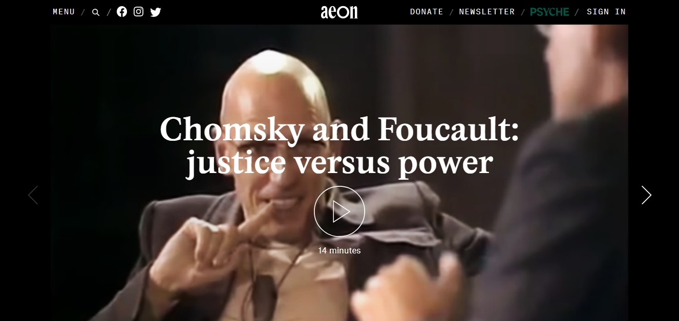 When Chomsky met Foucault: how the thinkers debated the 'ideal society'