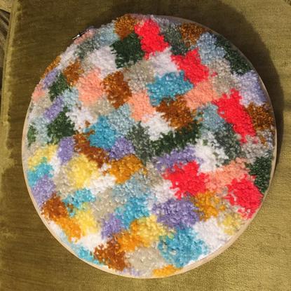"𝖛𝖆𝖓 𝖍𝖆𝖑𝖊𝖞 on Instagram: ""colorstudy01 #tufting #punchneedle #tuft #fibers #fibersart #rugmaking"""
