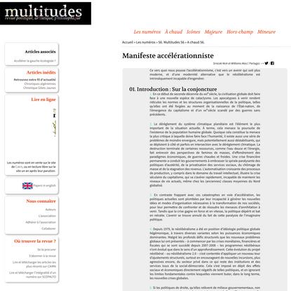 Manifeste accélérationniste - multitudes