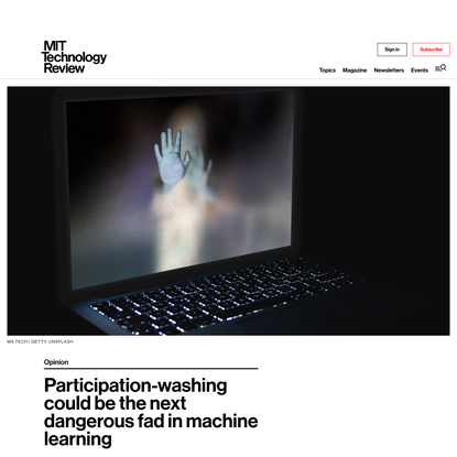 Participation-washing could be the next dangerous fad in machine learning