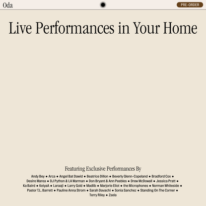 Oda - Live Performances in Your Home