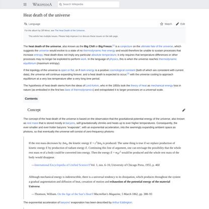 Heat death of the universe - Wikipedia