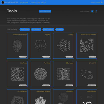 Drawingbots.net - Tools for drawing robots and other CNC machines