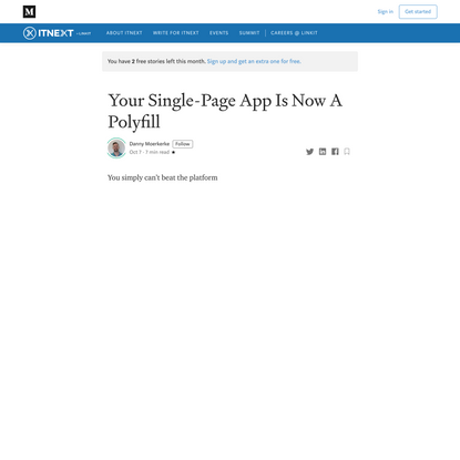 Your Single-Page App Is Now A Polyfill