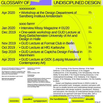 Glossary of Undisciplined Design