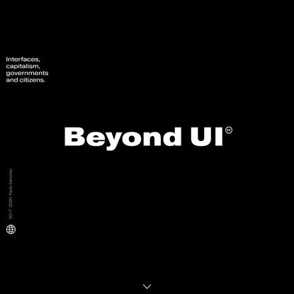 Beyond UI