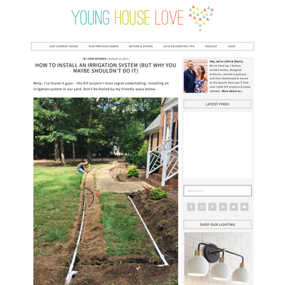 How To Install An Irrigation System   Young House Love