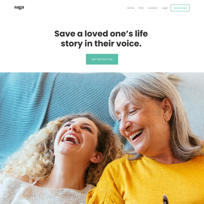 Saga | Record a loved one's life story on audio