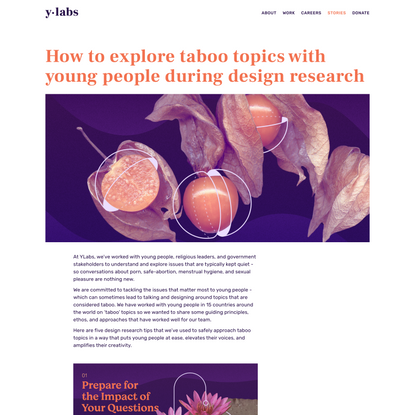 How to explore taboo topics with young people during design research — YLabs