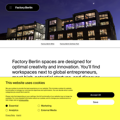 Spaces: for our Community, Network & Guests - Factory Berlin