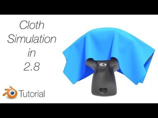 [2.8] Easy Cloth Simulation Tutorial in Blender