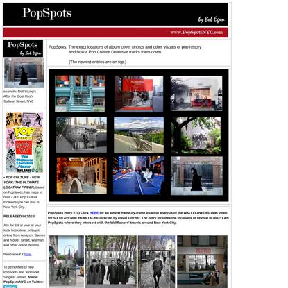 PopSpots - Album Cover Locations and Pop Culture Spots (www.popspotsnyc.com)