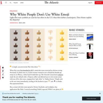 Why White People Don't Use White Emoji
