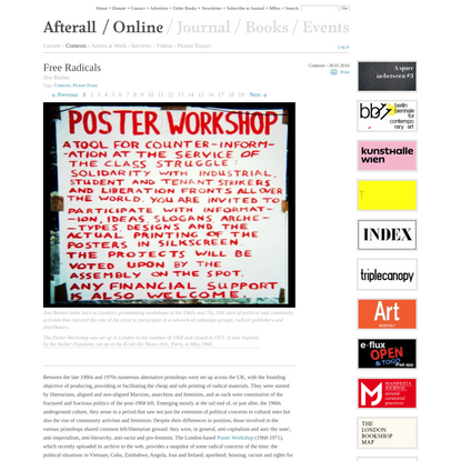 Free Radicals • Online • Afterall