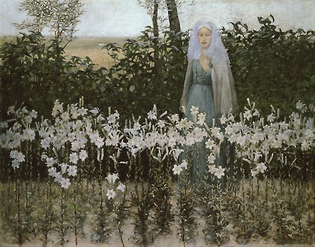 The Annunciation, George Hitchcock, 1887