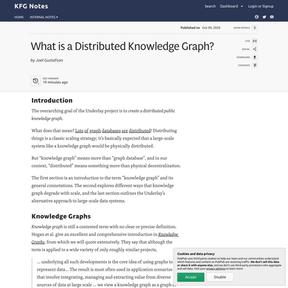 What is a Distributed Knowledge Graph? · KFG Notes
