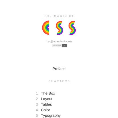 Magic of CSS — Adam Schwartz
