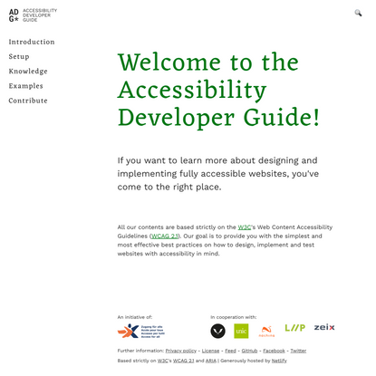 Welcome to the Accessibility Developer Guide!