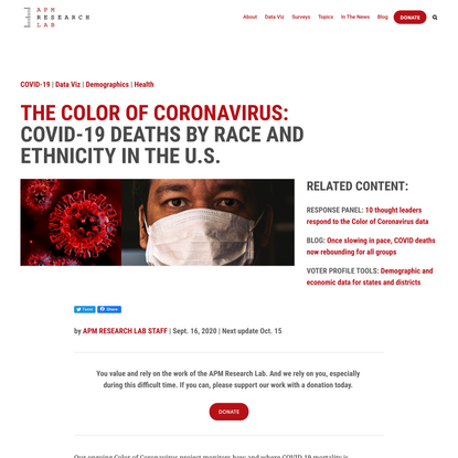 COVID-19 deaths analyzed by race and ethnicity — APM Research Lab