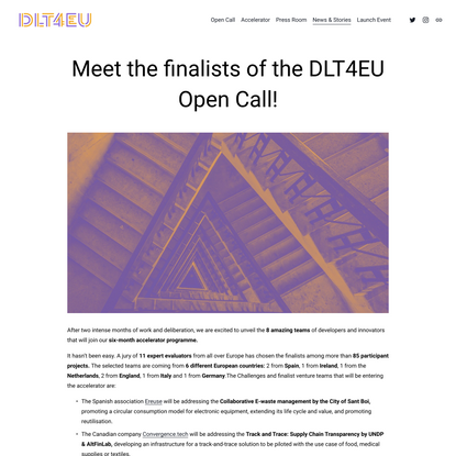 Meet the finalists of the DLT4EU Open Call — DLT4EU
