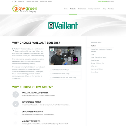 Vaillant Boilers and Heating Systems Installed by Glow Green Ltd