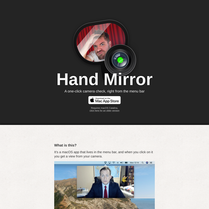 Hand Mirror, for Mac