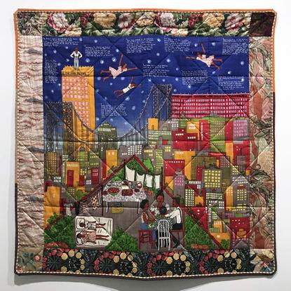 "Artforum on Instagram: ""Faith Ringgold, Tar Beach 2, 1990, silk screen on silk plain weave, printed cotton plain weave, and ..."