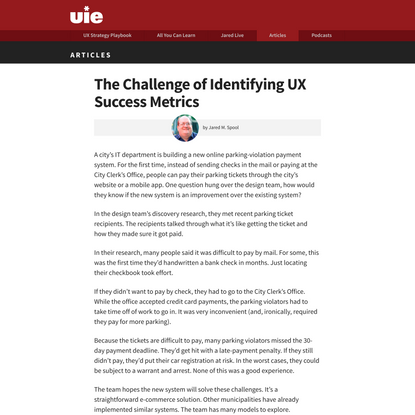 The Challenge of Identifying UX Success Metrics