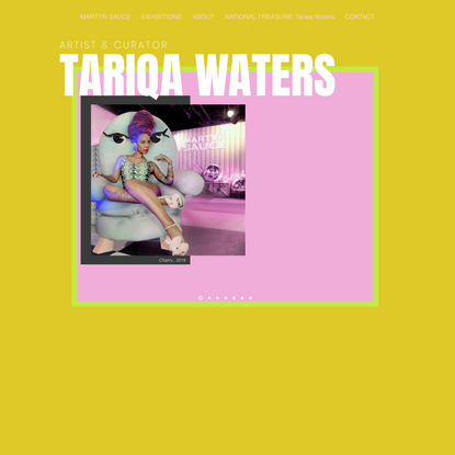 NATIONAL TREASURE: Tariqa Waters   Mysite 2