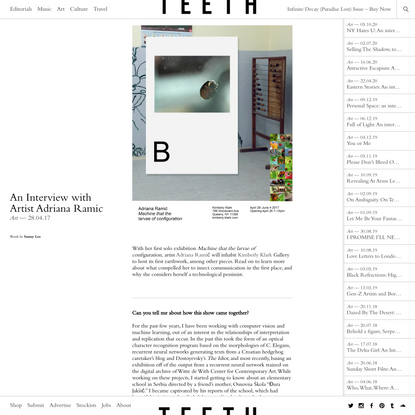 An Interview with Artist Adriana Ramic — Teeth Magazine