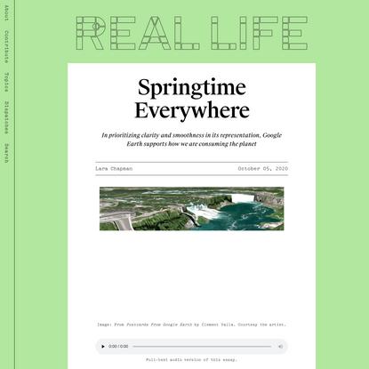 Springtime Everywhere — Real Life