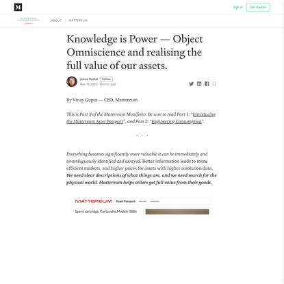 Knowledge is Power — Object Omniscience and realising the full value of our assets.