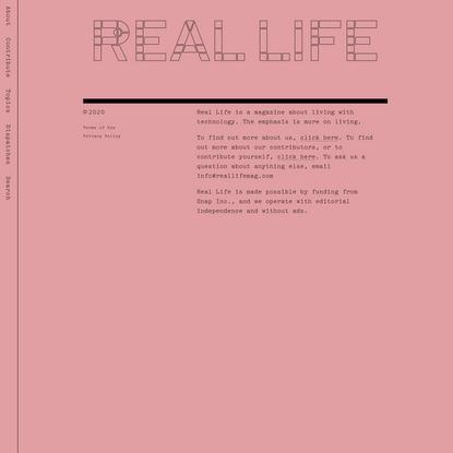 Sensitive Material — Real Life