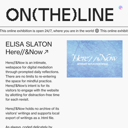 Elisa Slaton — ON(THE)LINE GDES SENIOR SHOW 2020