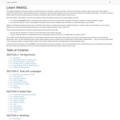 Learn WebGL — LearnWebGL