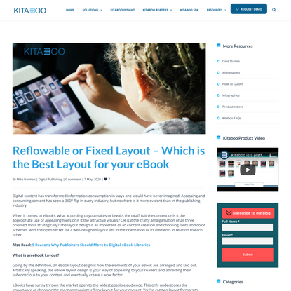Reflowable or Fixed Layout – Which is the Best Layout for your eBook