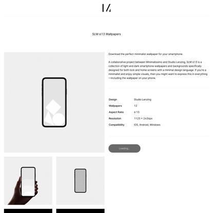 SLM 613 Wallpapers – Minimalissimo Shop