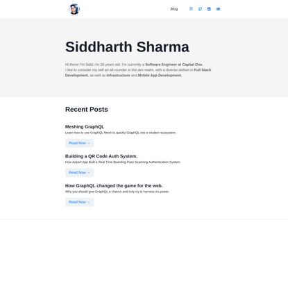 Home – Siddharth Sharma