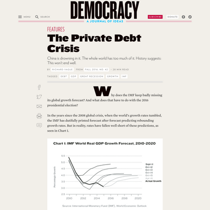 The Private Debt Crisis