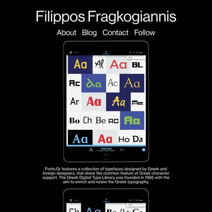 Studio Filippos Fragkogiannis - Fonts.gr Covers