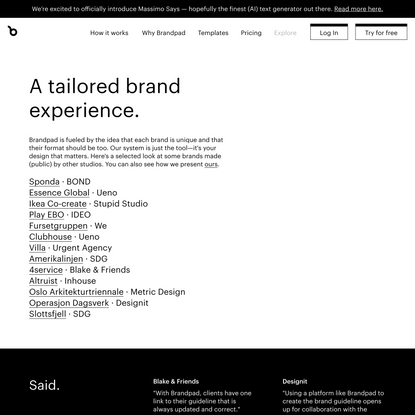 Brand guidelines examples — Brandpad