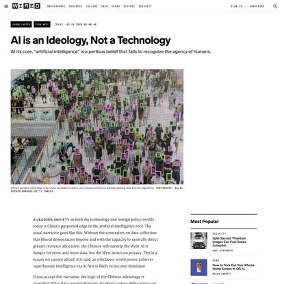 AI is An Ideology, Not A Technology