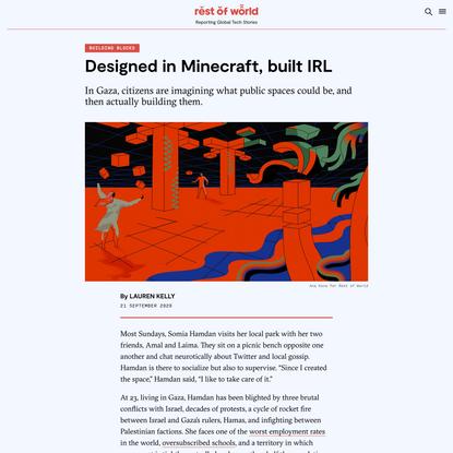 Designed in Minecraft, built IRL