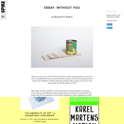 Essay: without you
