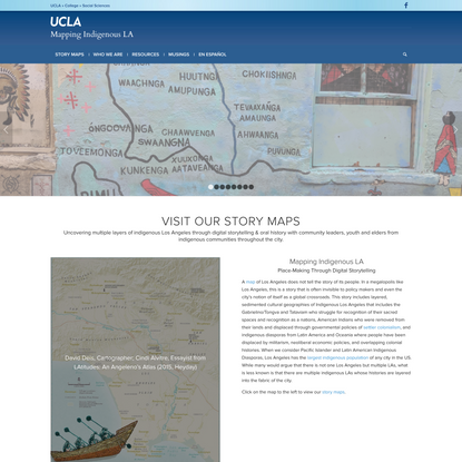 Homepage - Mapping Indigenous LA