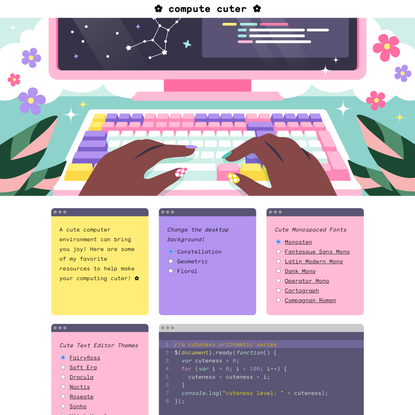 compute cuter - a guide to cute-ifying your computer