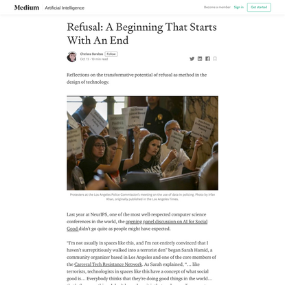 Refusal: A Beginning That Starts With An End