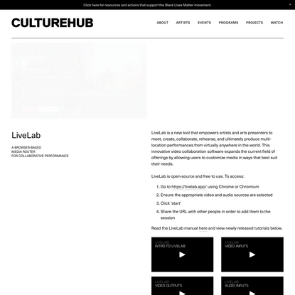 CultureHub — LiveLab